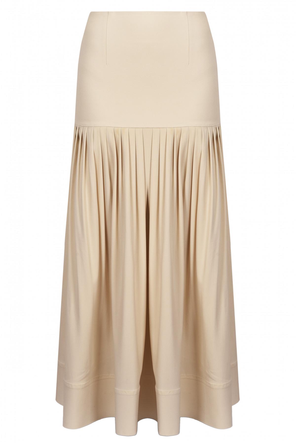5adcdf504 GEORGE KEBURIA - Pleated drop waist midi skirt